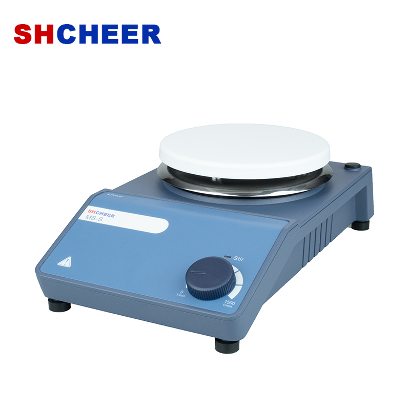 Lab Equipment Magnetic Stirrer With 5 Inch Work Plate Scale Control Speed Up To 1500rpm MS-S
