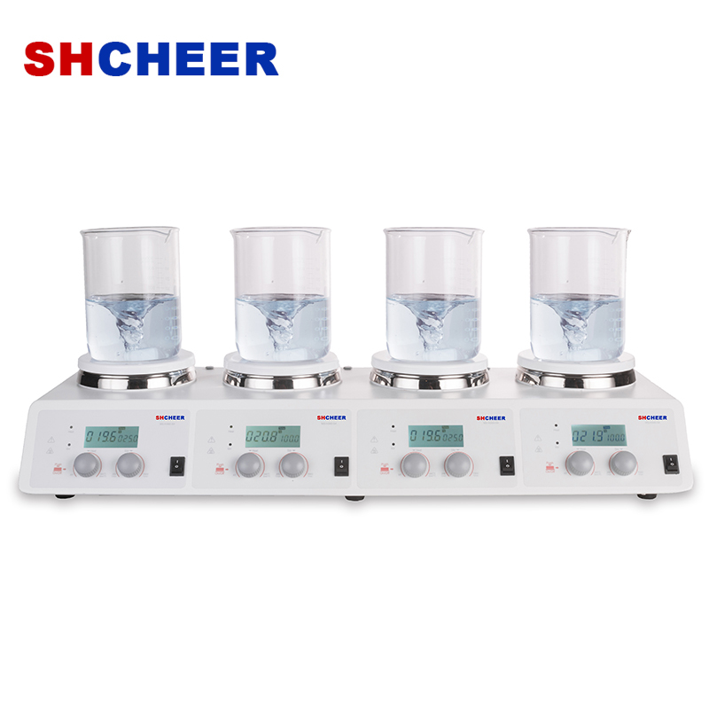 4-Channel Lab Hot Plate Stirrer Max. Temperature 340℃ Individual Control MS-H340-S4