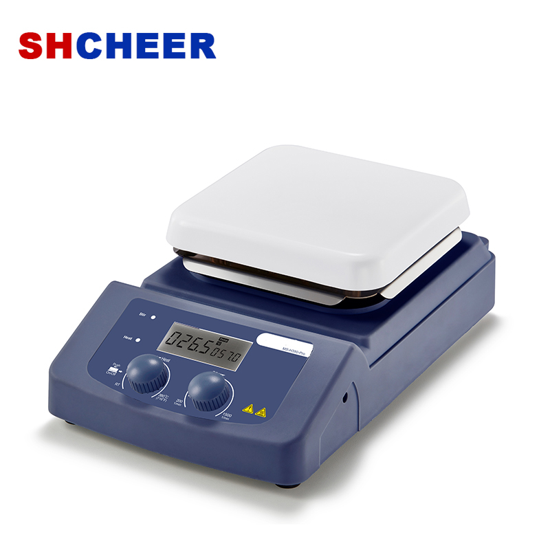 Digital Hotplate Stirrer LCD Display Max Temperature 340℃ Overheating Protection HP380-Pro