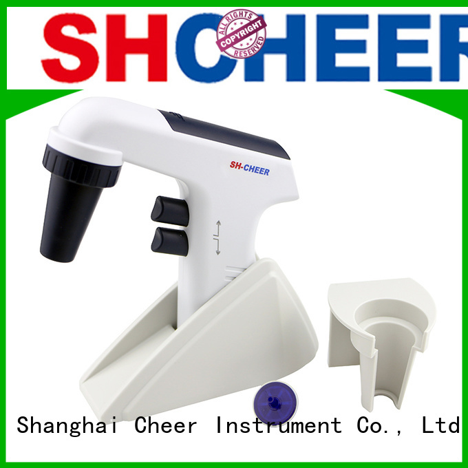Cheer digital electronic pipette filler machine in laboratory