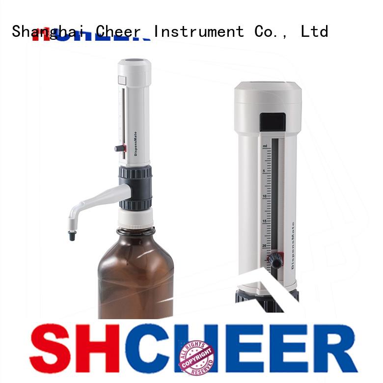 top digital bottle top dispenser for lab instrument