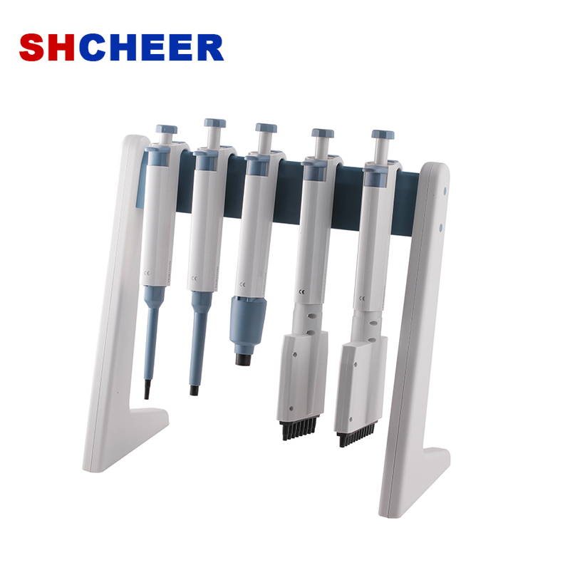 Linear Pipette Stand For Micropipette Hold 6 Pipettors Round Linear Type