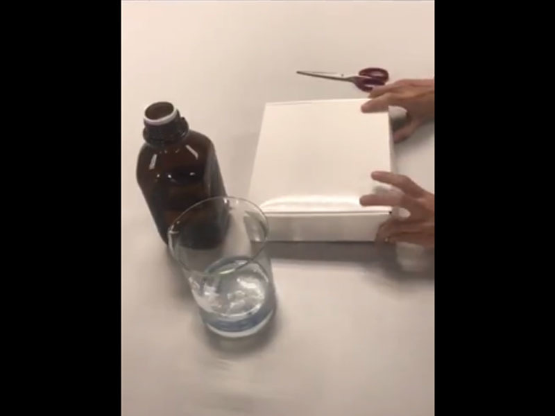 Manual bottle-top dispenser operation instruction, excellent chemical resistance.