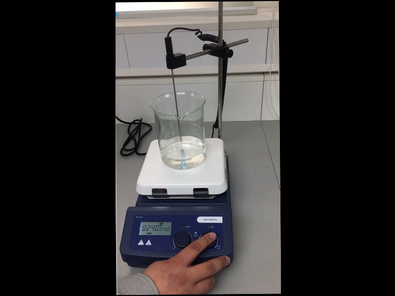 Magnetic hotplate stirrer MS7-H550-Pro with overheating protection, excellent chemical resistance.