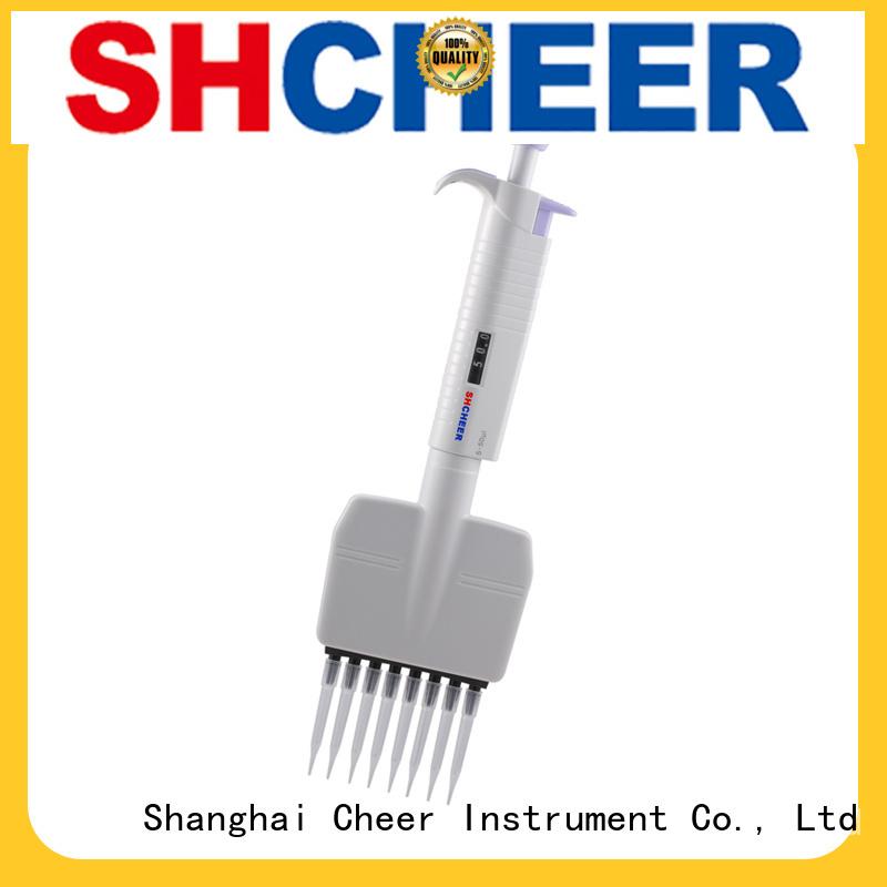 Cheer multichannel adjustable multichannel pipette clinical diagnostics