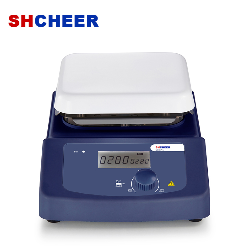 Magnetic stirrer with LCD display and PT1000 MS6-Pro